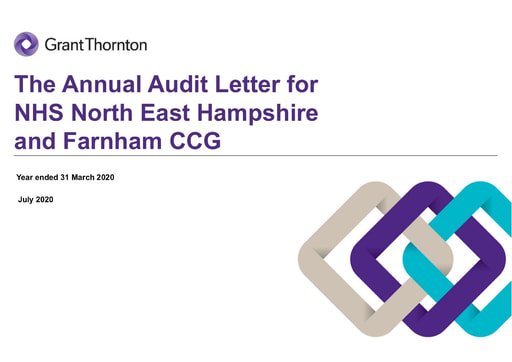North East Hampshire and Farnham CCG Annual Audit Letter 2019-20